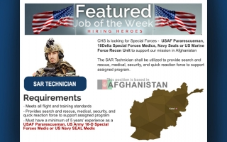 SAR Technicians for Afghanistan