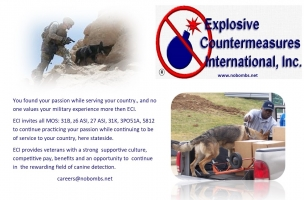 Explosive Detection K9 Handler