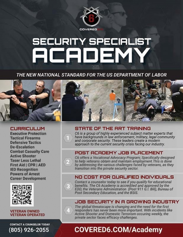 Veterans - Physical Security Specialist Academy and Job Placement